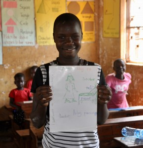 Patricia wants to be a doctor when she grows up (and a policewoman and president..) Dream  big!
